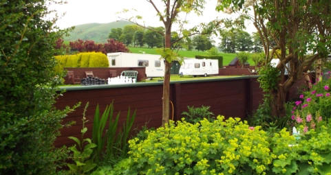 View over the site at Woodland Gardens Caravan & Camping Site